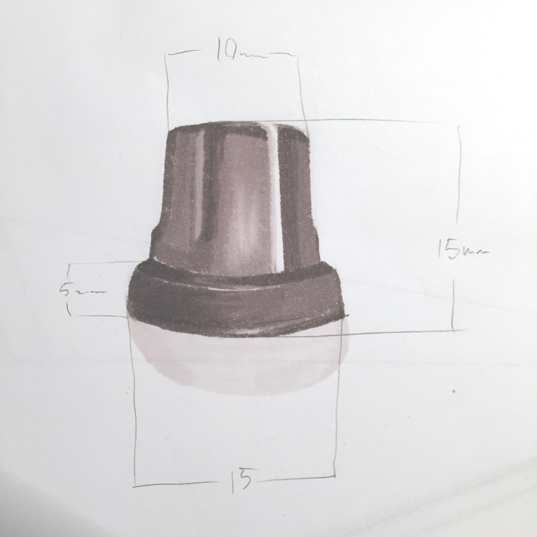 Midi controller knob, marker render by Sebastian Galo