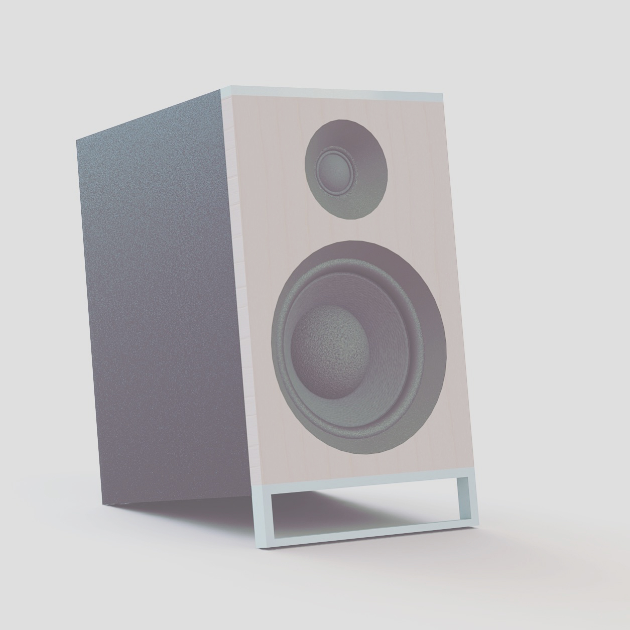 CAD render in Solidworks, shelfspeaker by Sebastian Galo