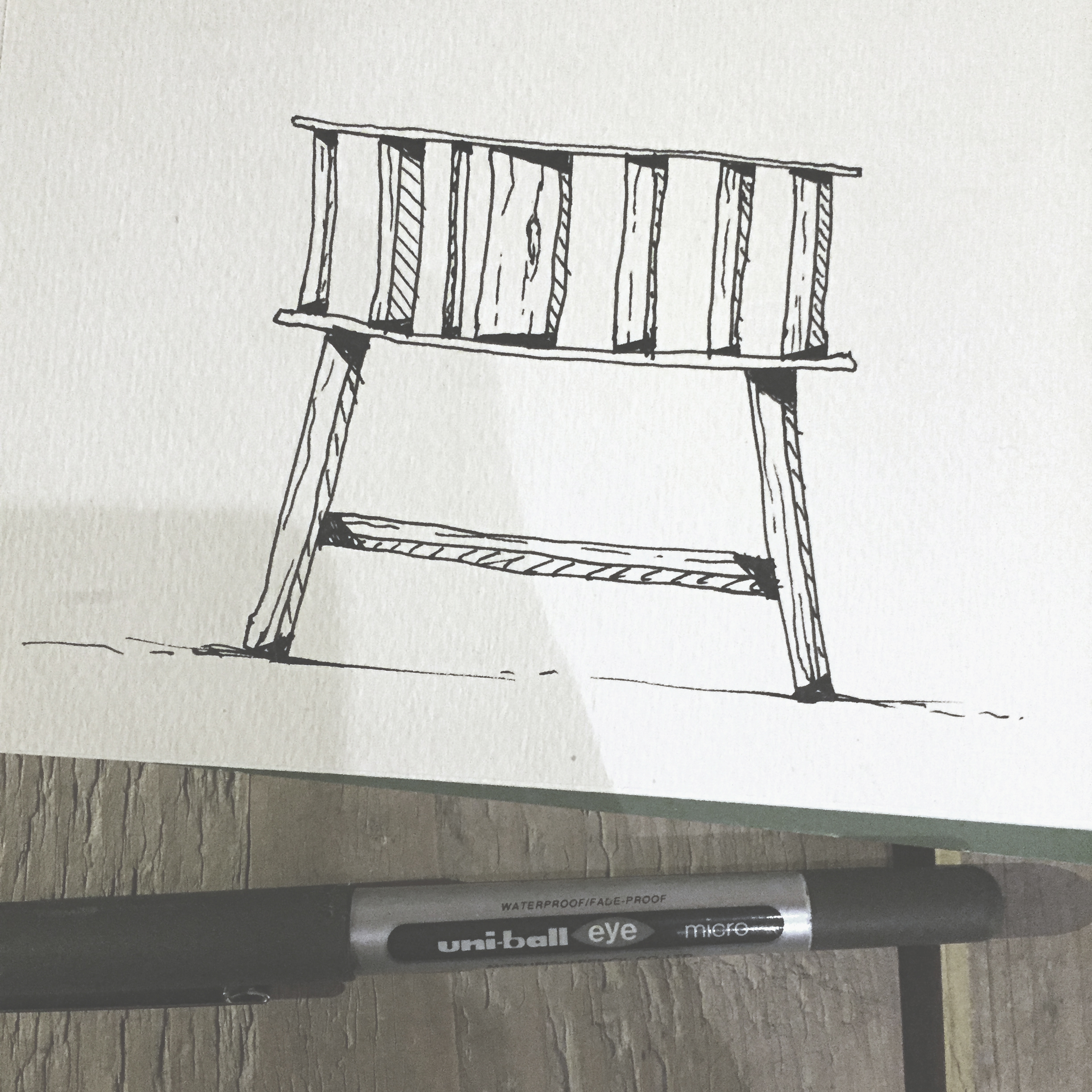 Chair doodle by Sebastian Galo