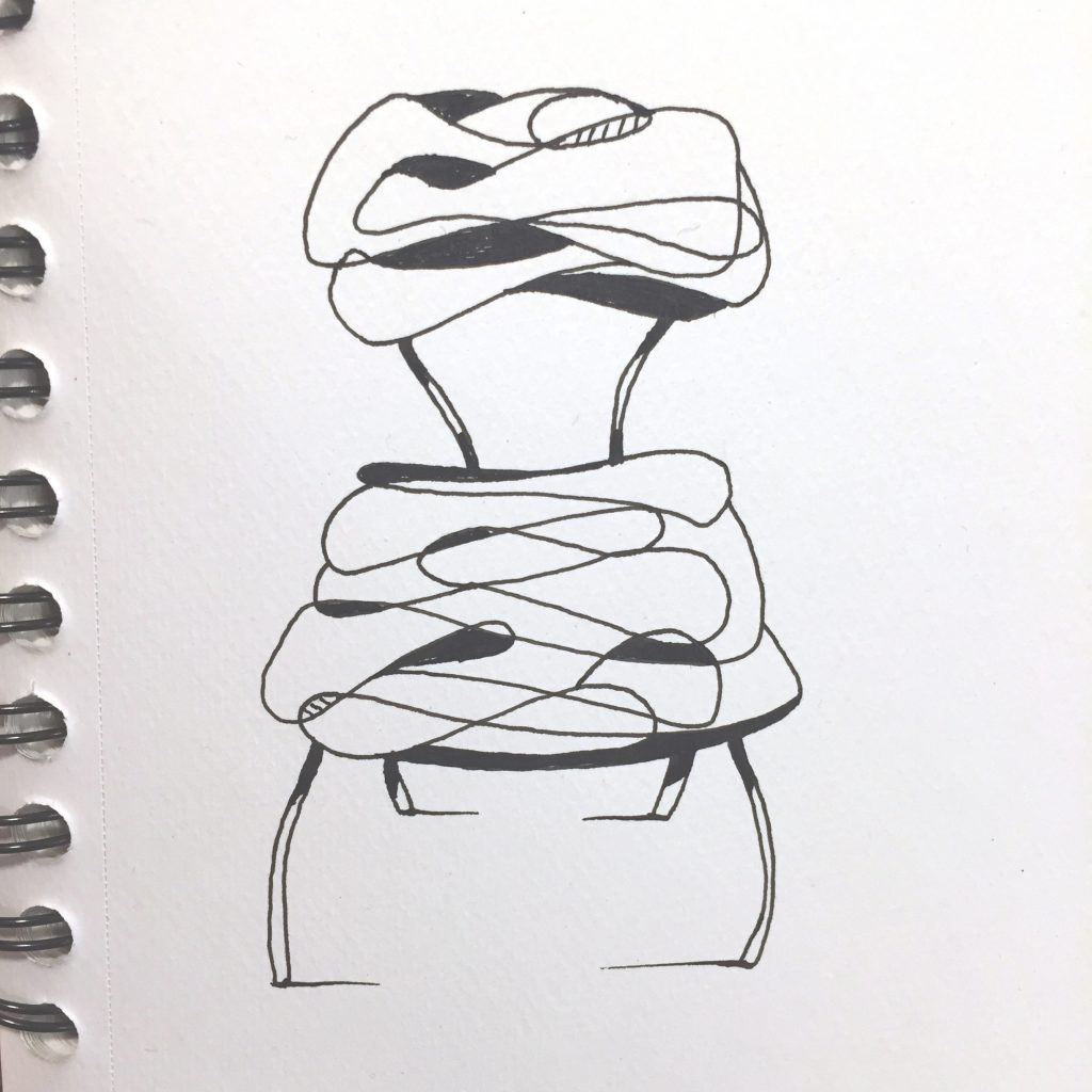 Oneliner chair doodle, by Sebastian Galo