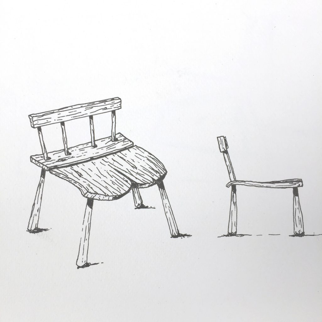 Wooden chair inspired by Japan and Småland, by Sebastian Galo