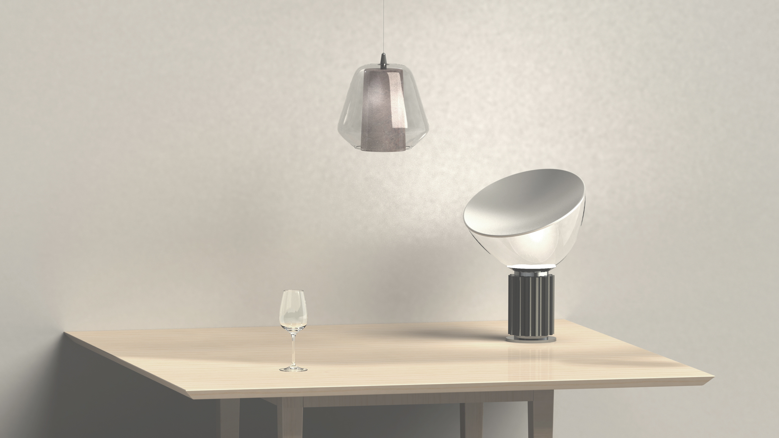 Solidworks render with Taccia from Flos, by Sebastian Galo