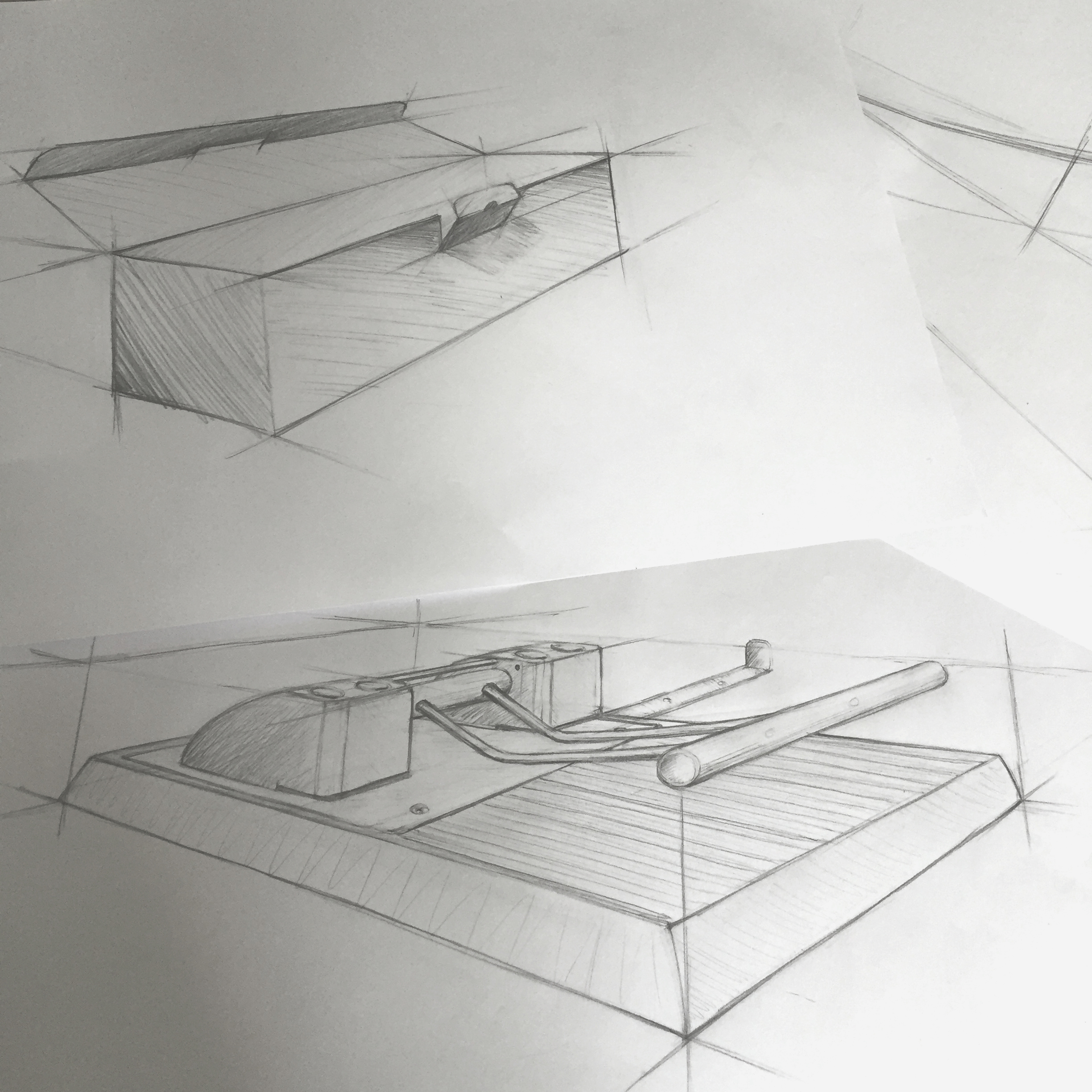 Technical drawings in perspective by Sebastian Galo