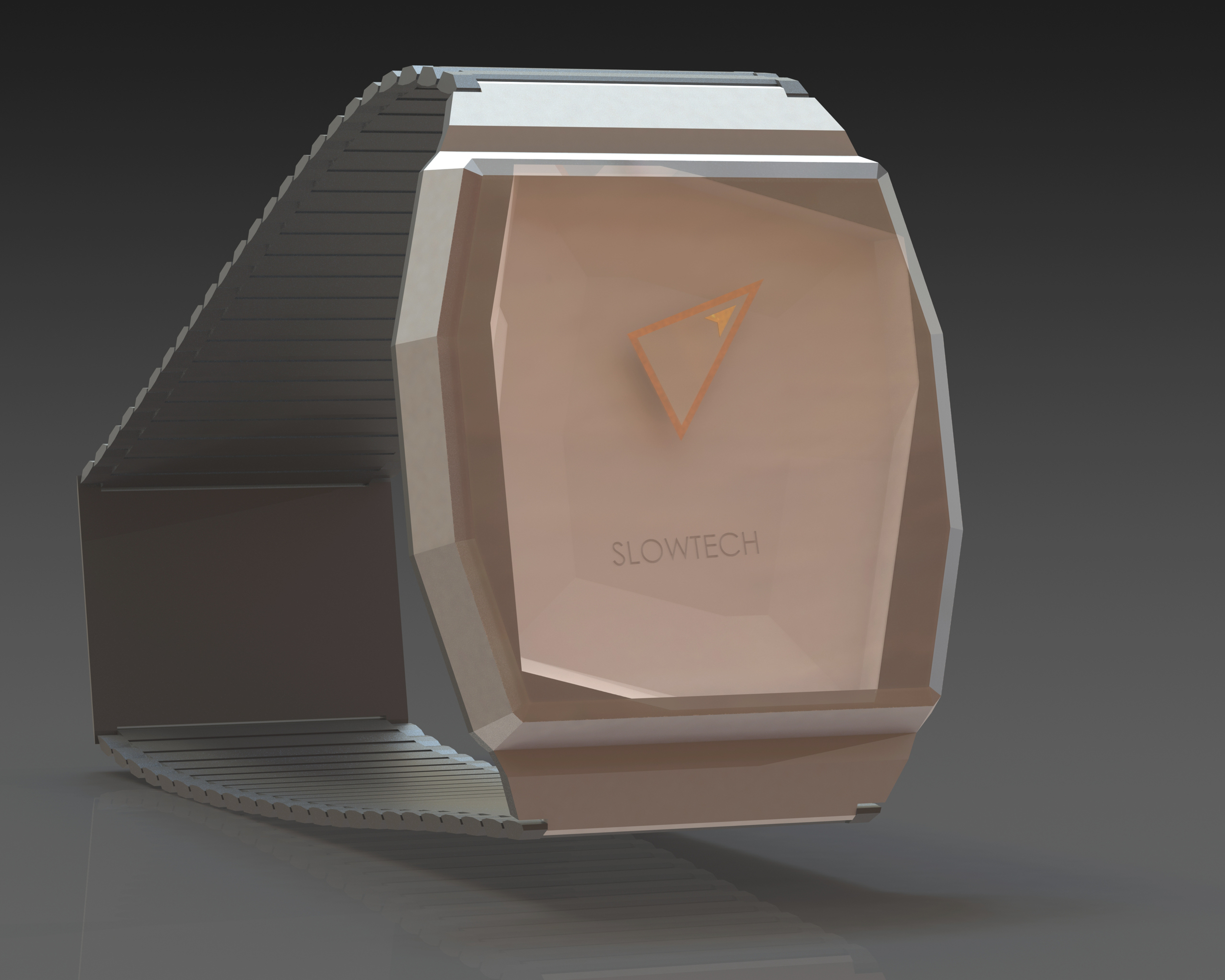 Wristwatch render in CAD, Slowtech by Sebastian Galo