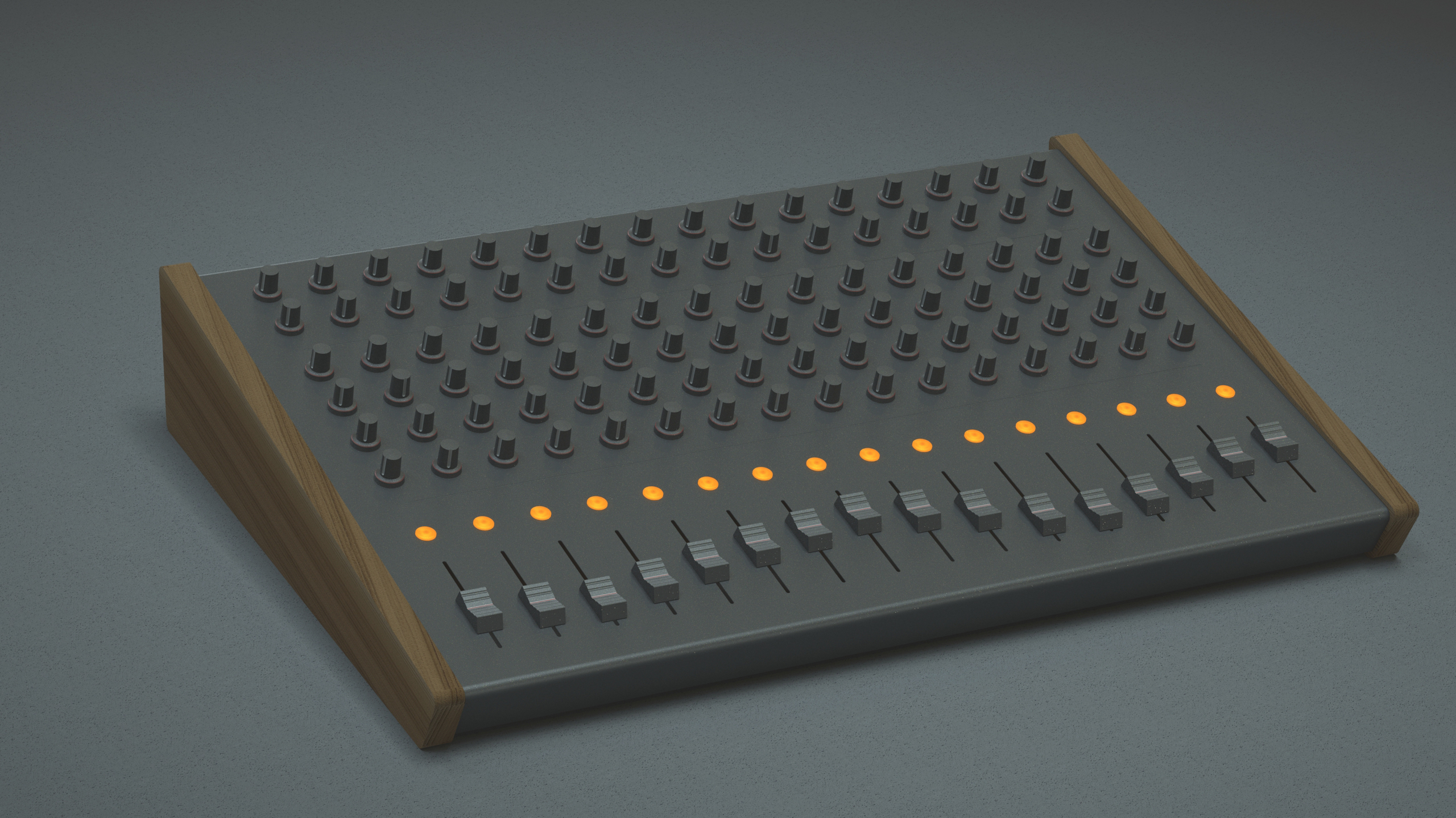 Midi controller made in Solidworks, by Sebastian Galo
