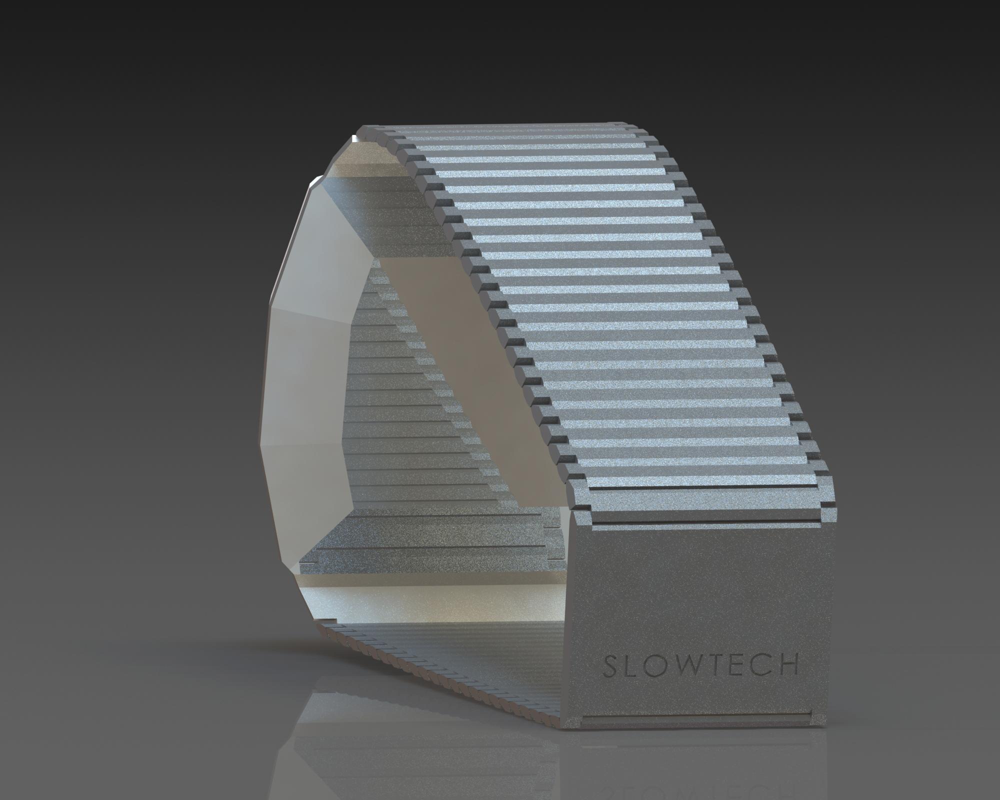 Wristwatch render in CAD, Slowtech by Sebastian Galo